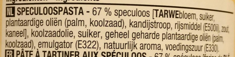 Pâte Speculoos Crunchy - Ingrediënten - nl