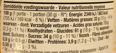 Pâte Speculoos Crunchy - Voedingswaarden - fr