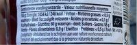 Confiture Bio Fraises - Voedingswaarden - fr