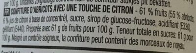 Confiture abricot - Ingrediënten - fr