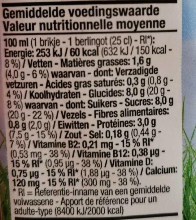 Boisson au soja - Voedingswaarden - fr