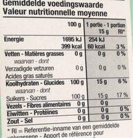 Sucre de canne - Voedingswaarden - fr
