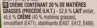 Crème fraiche - Ingrediënten - fr