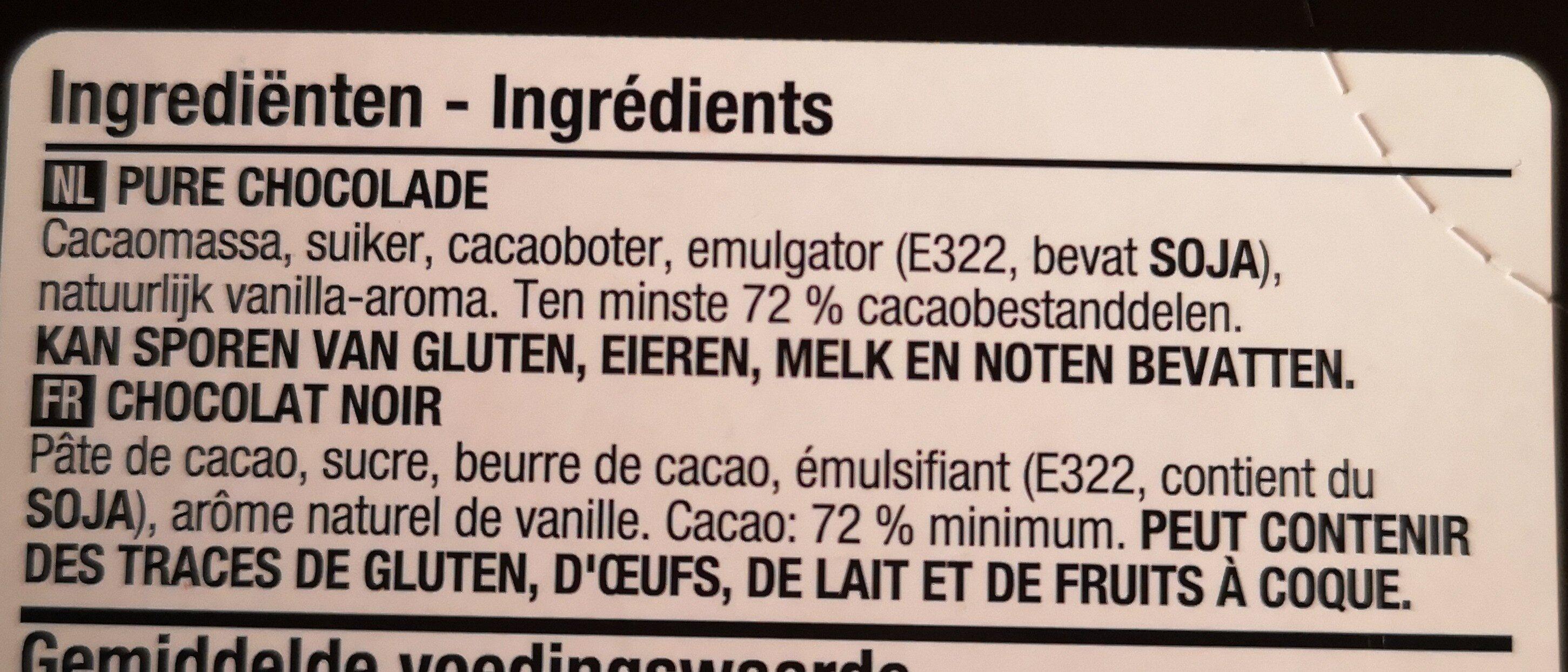 Chocolat noir 72% cacao - Ingredients - en