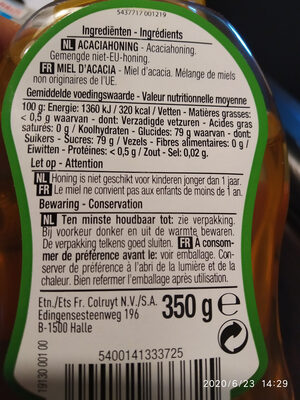 Acacia - Ingrediënten - fr