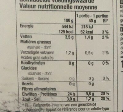 Saumon fumé  sauvage - Voedingswaarden - fr