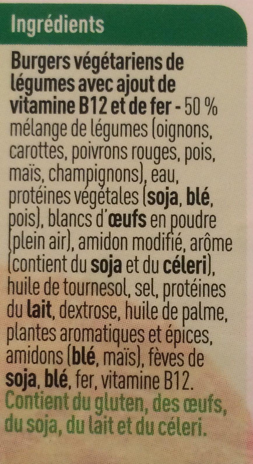 Burgers de legumes - Ingredients