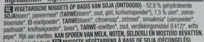 Vegetarische nuggets - Ingrediënten - nl