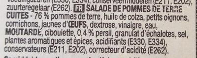 Salades de pommes de terre - Ingrédients - fr