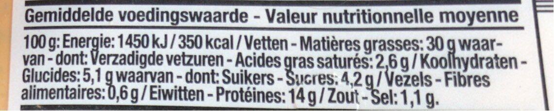 Salade de poulet andalouse Boni Colruyt - Voedingswaarden - fr