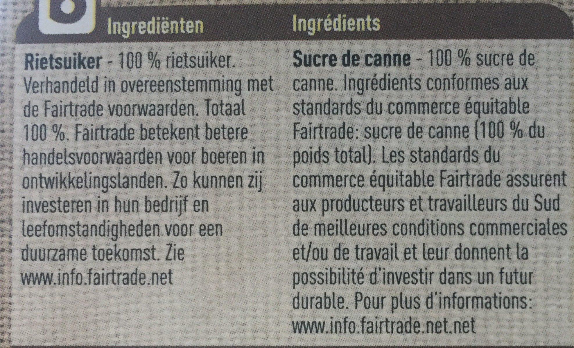 Sucre de canne non raffiné - Ingrediënten