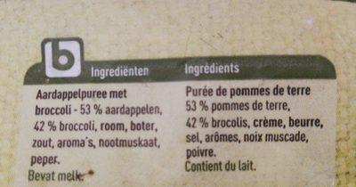 Purée de pomme de terre aux brocolis - Ingrediënten