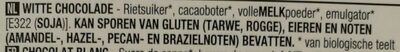Chocolat blanc - Ingrediënten - nl