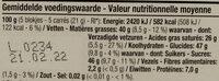 Chocolat lait - Voedingswaarden - fr
