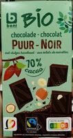Chocolat noir bio aux éclats de noisettes - Product - fr