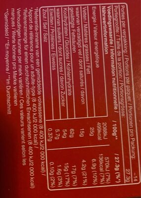 celebration - Informations nutritionnelles - en