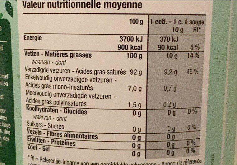 Kokosolie - Voedingswaarden - nl