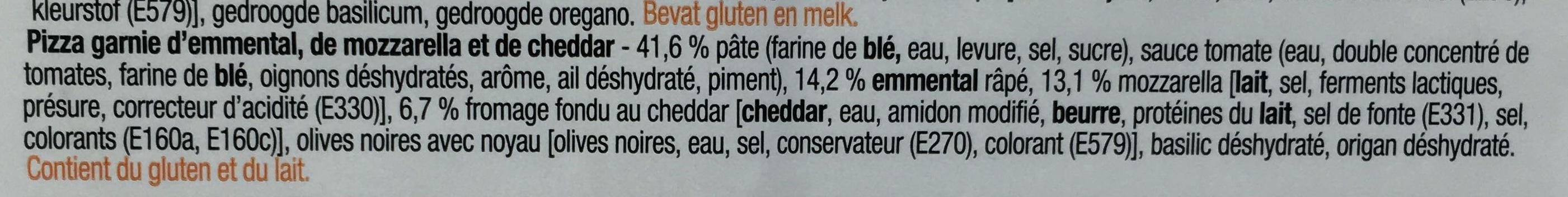 3 formaggi Emmental, Mozzarella, Cheddar - Ingrediënten - fr
