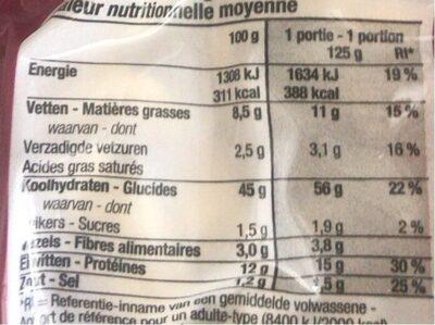 Capeletti jambon cru - Informations nutritionnelles - fr