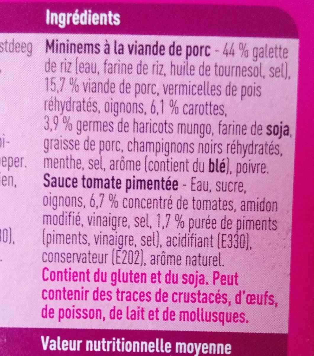 Nems au porc - Ingredients - fr