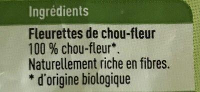 Fleurettes de chou-fleur - Ingrediënten