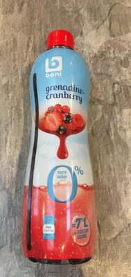 Sirop grenadine-cranberry 0% - Product - fr