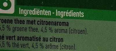 Green tea lemon - Ingrediënten
