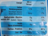 Filets de tilapia boni - Voedingswaarden