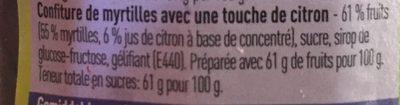 Confiture de myrtilles - Ingrediënten - fr