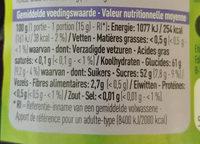 Confiture de myrtilles - Voedingswaarden - fr