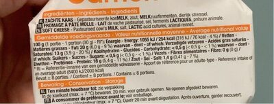 Camembert - Informations nutritionnelles