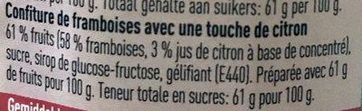Confiture Framboises - Ingrediënten - fr