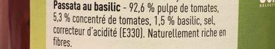Passata rustiqua Boni - Ingrediënten