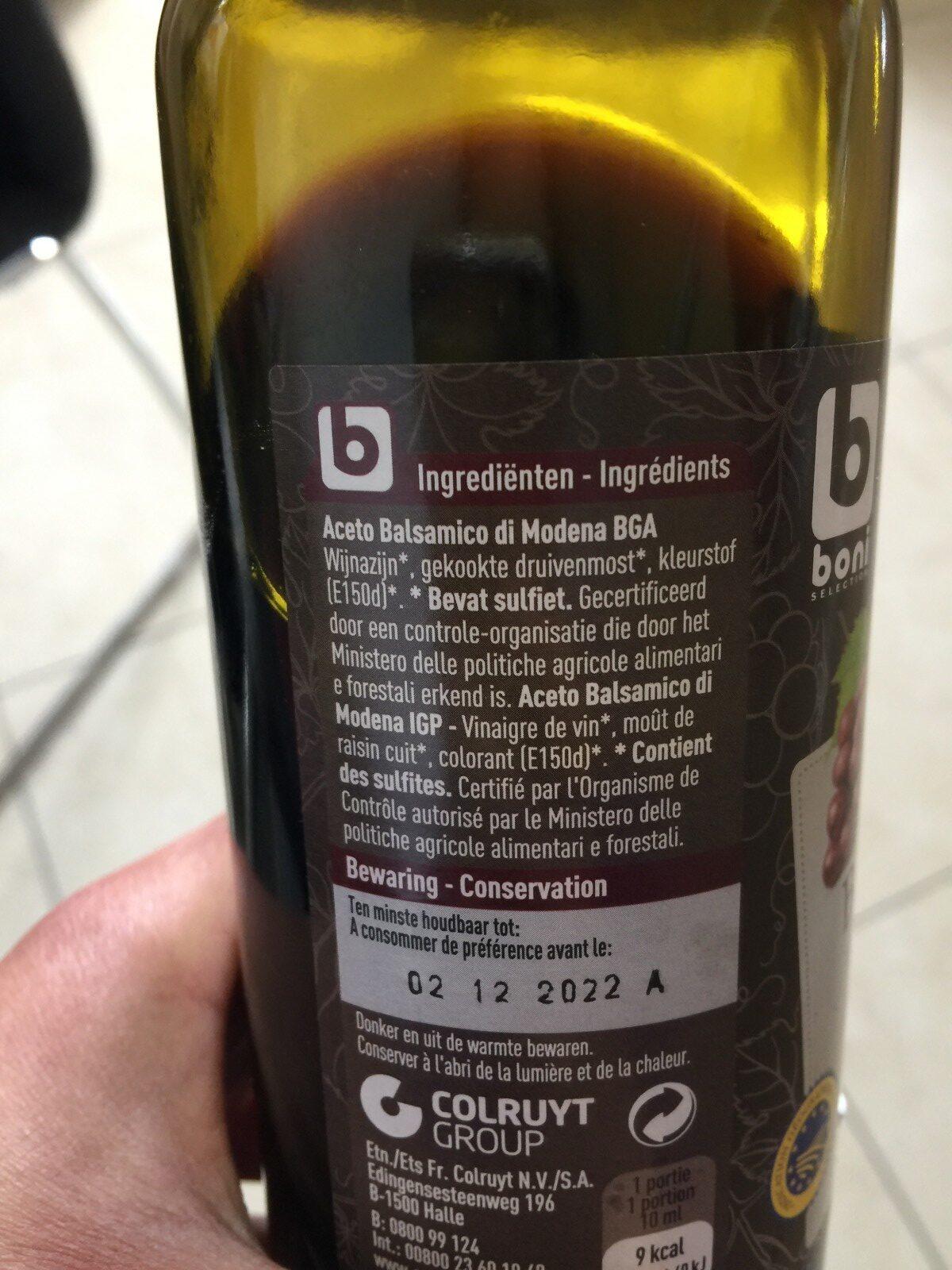 Vinaigre balsamique - Ingrediënten