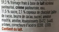 Fromage Frais Stracciatella - Ingrediënten - fr