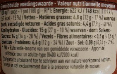 Fromage Frais Stracciatella - Voedingswaarden - fr
