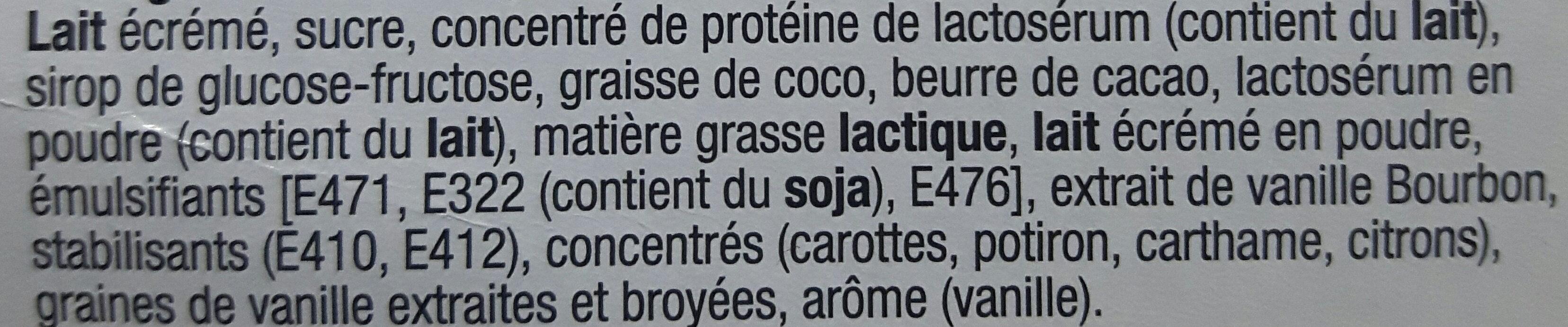 Glaces à la vanille - Ingrediënten - fr
