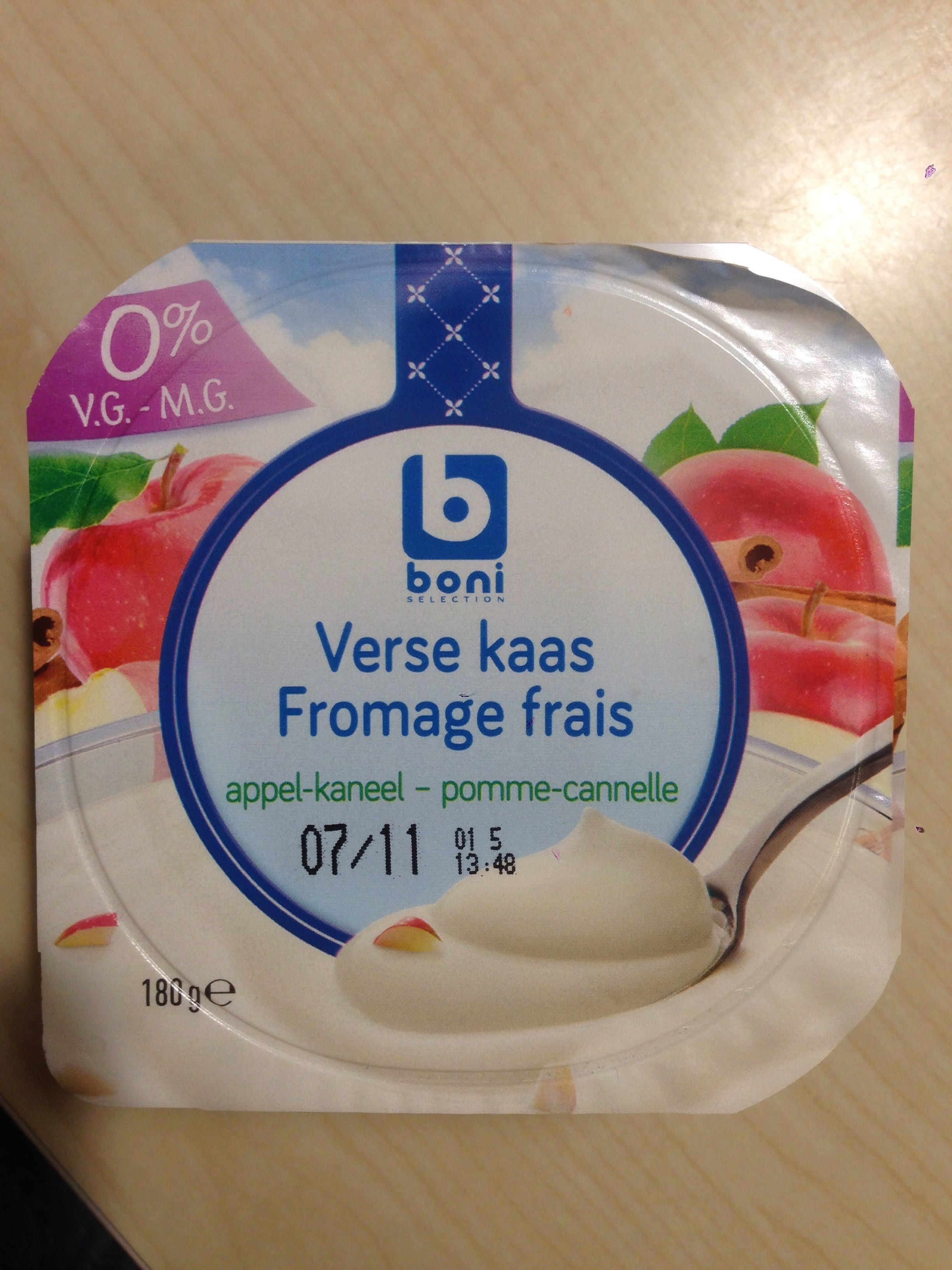 Fromage frais pomme cannelle - Product - fr