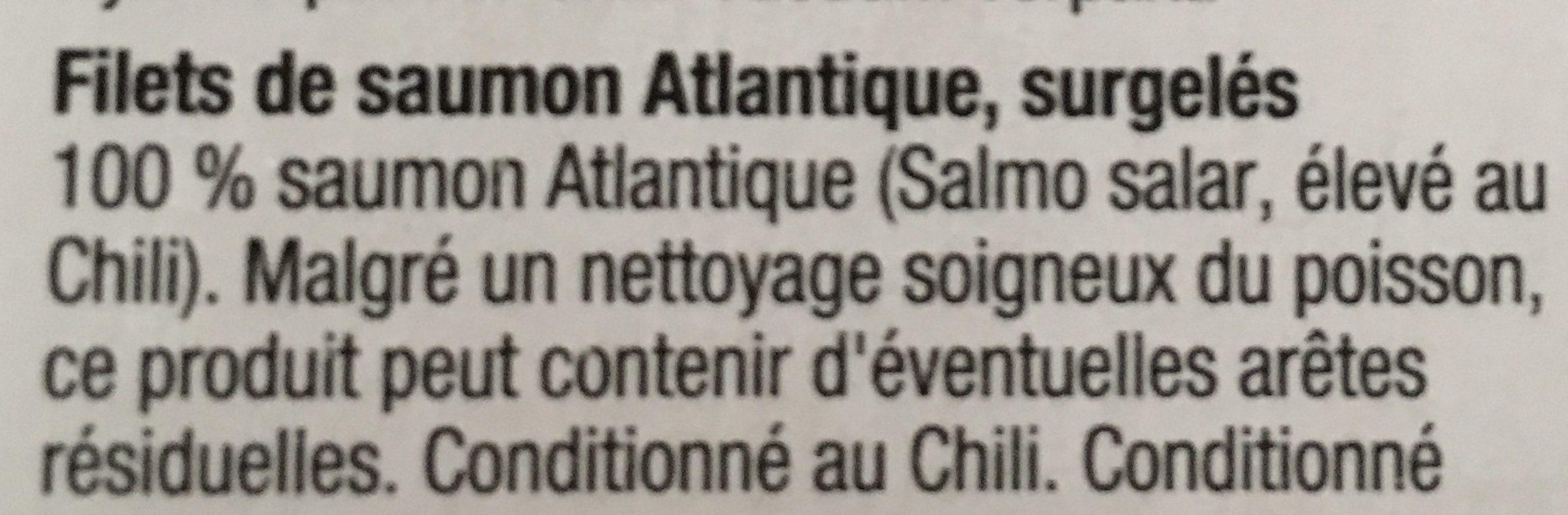 Filets de saumon - Ingrédients - fr