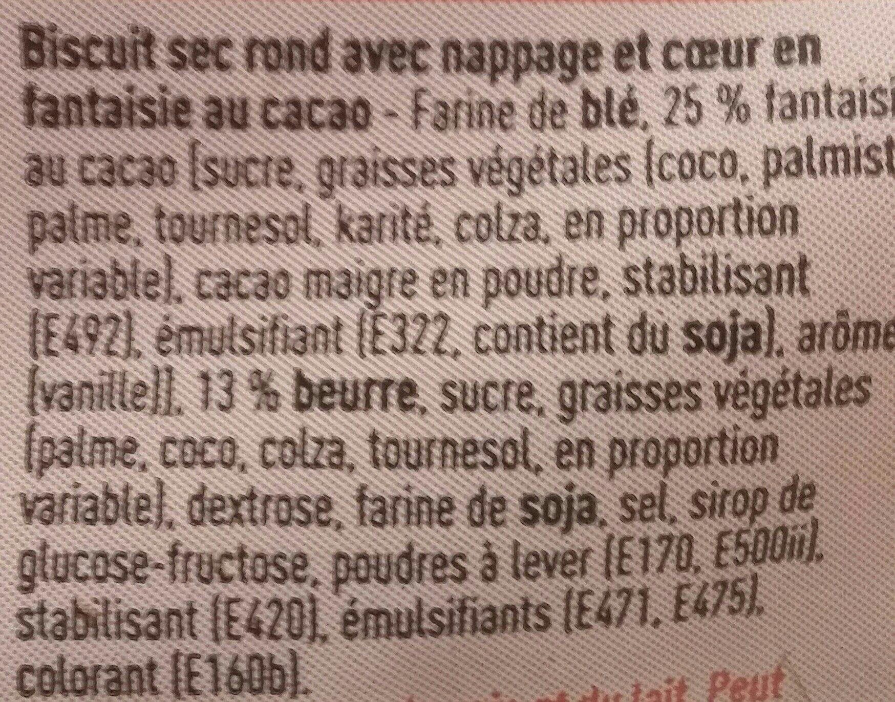 Marguerites - Ingredients