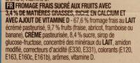 Fromage frais aux fruits - Ingrédients - fr