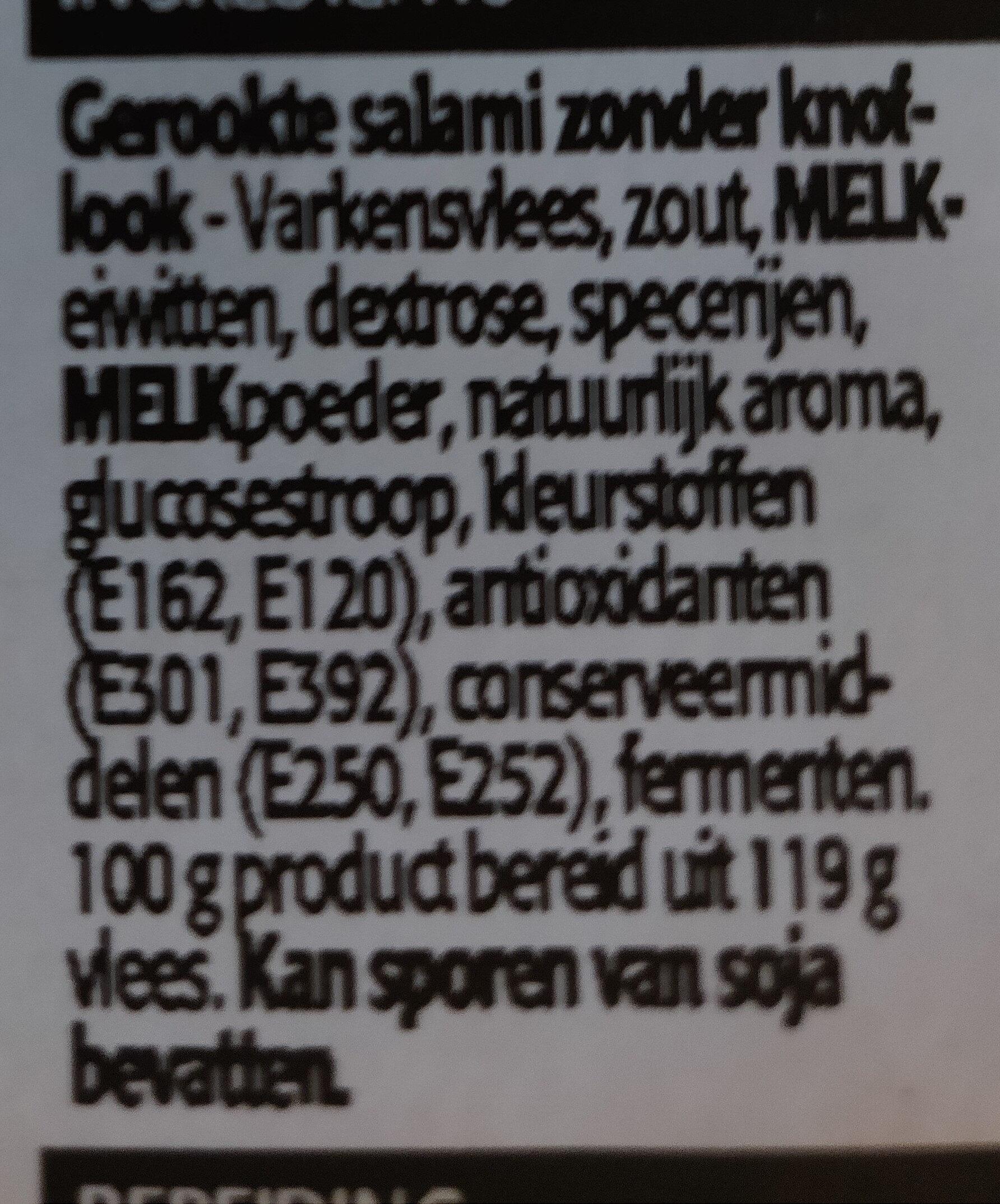 Salami sans ail - Ingrédients - nl