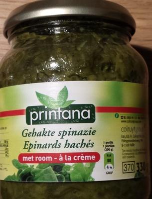 épinards hachés à la crème - Produit - fr