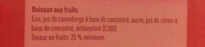 Boni cranberry - Ingrediënten - fr
