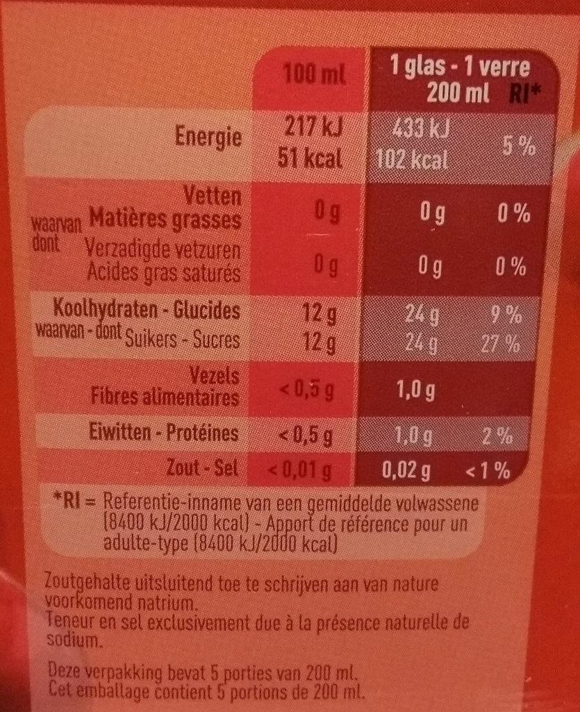 Boni cranberry - Voedingswaarden - fr