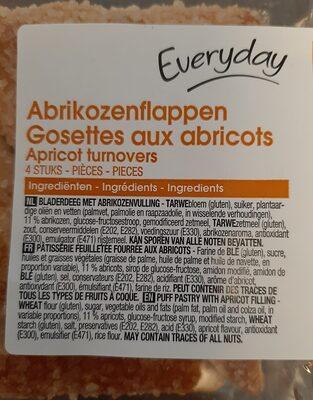Gosettes aux abricots - Ingrediënten - fr
