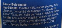 Sauce Bolognaise - Ingrediënten - nl