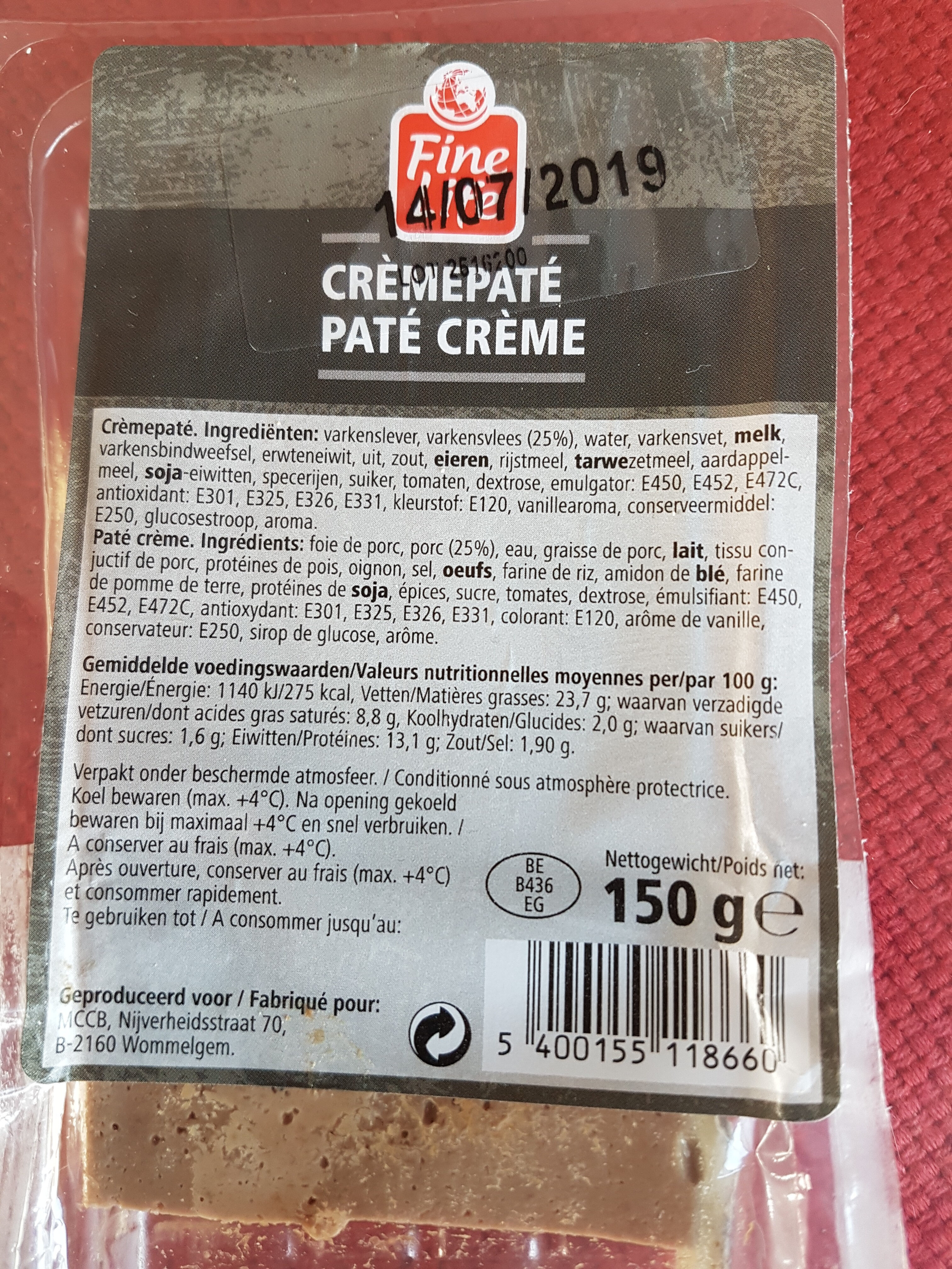 PATE CREME - Product