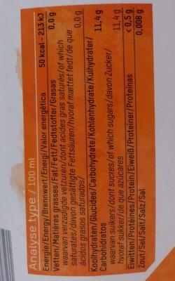 Oxfam Orange juice - Voedingswaarden - fr