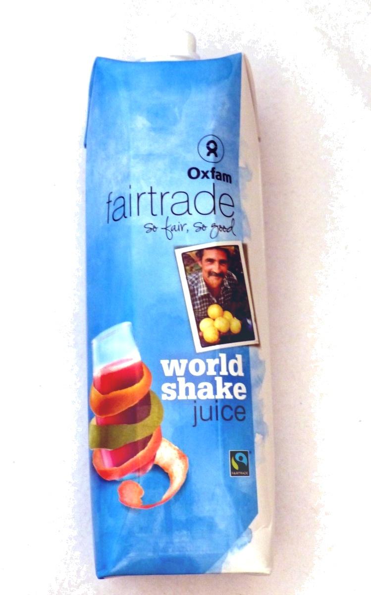 Oxfam world shake juice - Product - fr